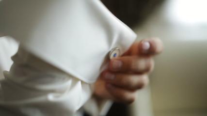 groom buttons cuff shirts