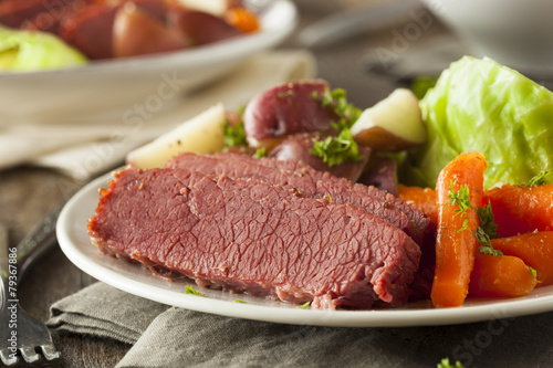 Homemade Corned Beef and Cabbage - 79367886