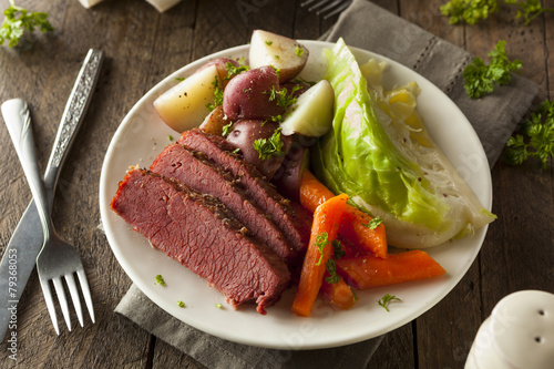 Homemade Corned Beef and Cabbage - 79368053