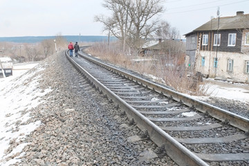 KOZELSK : the image of a railroad tracks