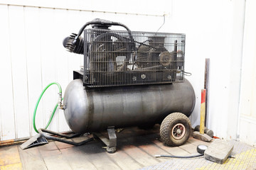The image of air compressor under the white background