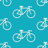 Flat design bicycle vector pattern - 79368889