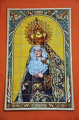 Sevilla, azulejos sevillanos, Virgen del Mayor Dolor y Traspaso
