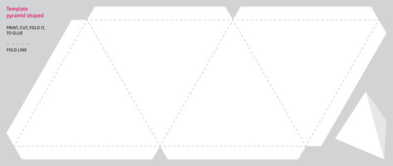 Template pyramid shaped, vector