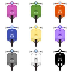 Moto scooter Vespa - 9 modelos - vista frontal