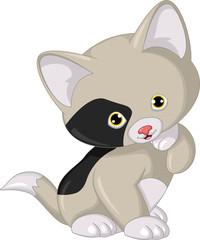 Cat cartoon posing