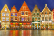 Christmas Old Market square in the center of Bruges, Belgium - 79370294