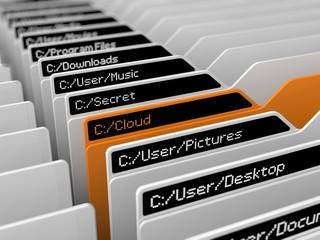 computer file system illustration