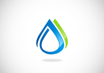 clean water abstract vector logo