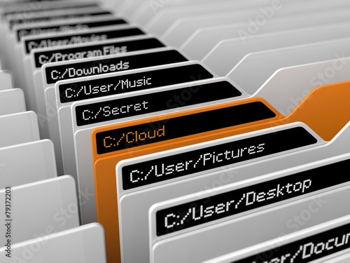 computer file system illustration - 79372203