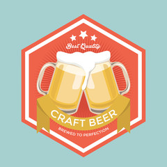Retro Craft Beer Sign