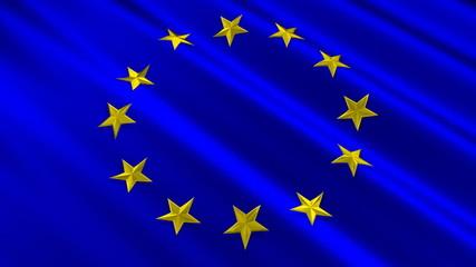 European Union Flag 3D Stars Loop