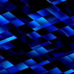 Blue Mosaic Background. Abstract Unique Lines Pattern. Style.