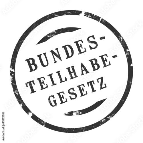 Leinwandbild Motiv sk419 - StempelGrafik Rund - Bundesteilhabegesetz BMAS - g3342