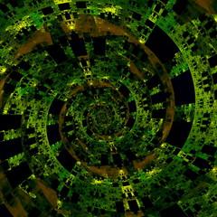 Beautiful Strange Digital Spiral. Abstract Fractal Art.
