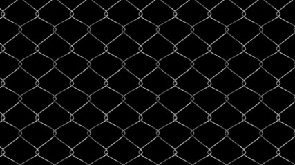 Chain Link Wire Fence Animation Loop