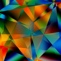 Abstract Colorful Triangular Pattern. Modern Background.