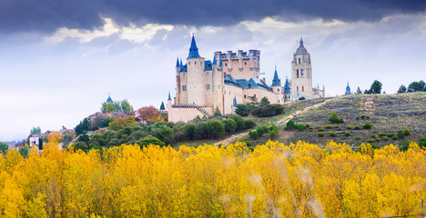 Autumn  view of Castle of Segovia