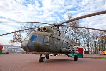 Парк Победителей в Витебске. Вертолёт Ми-8. Беларусь