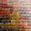 squares on the grunge wall