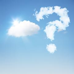 Frage am Himmel
