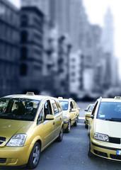 Taxis auf der Strasse