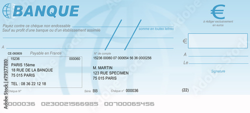 Chèque bancaire - 79377810