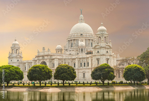Staande foto India Victoria Memorial landmark in Calcutta (Kolkata) - India