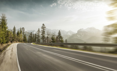 Mountain road in Poland