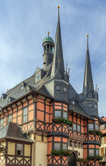 town hall of Wernigerode, Germanl