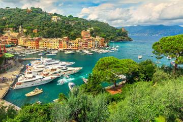 The famous old Portofino village,Liguria,Italy,Europe