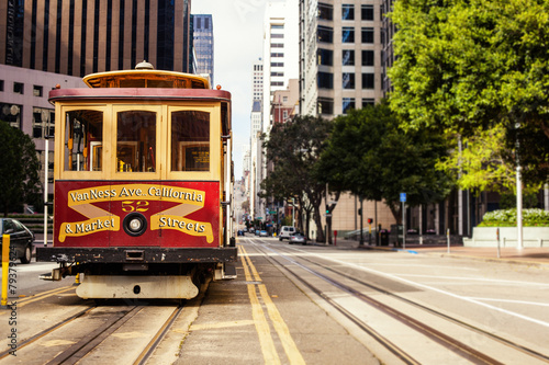 Juliste Cable Car in San Francisco