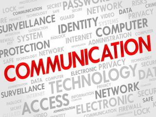 COMMUNICATION word cloud, security concept