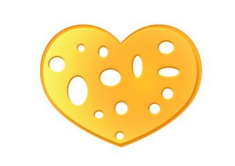 Käsescheibe Herz / Chees Heart