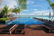 Swimming pool at Maldives