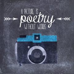 Camera quote illustration