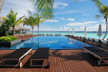 Swimming pool at Maldives