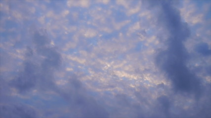 Speed video of flowing of cloud at morning