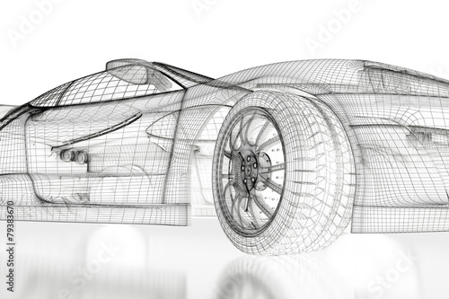 obraz PCV 3D samochód