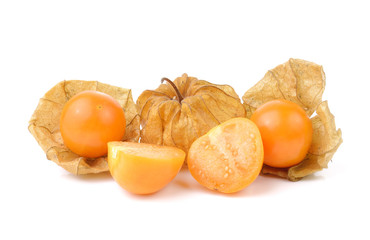 Physalis fruit on a white background