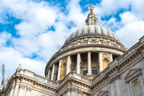 Famous St. Paul's Cathedral church, London, United Kingdom. - 79386439