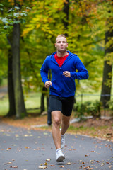 Healthy lifestyle - young man running