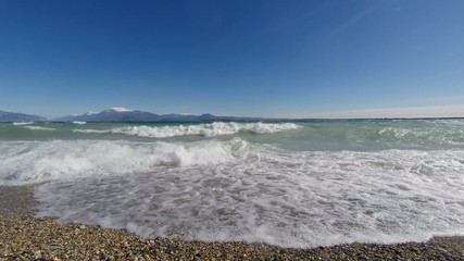 waves on the Lake Garda