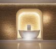 Elegant luxury wellness bathtub spa interior - 79388653