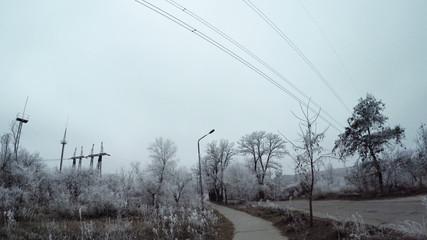 Road industrial area