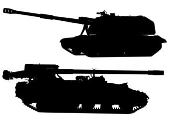 Tanks silhouette