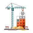 Construction site, building a house - 79389242