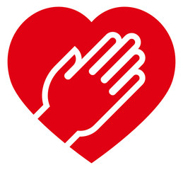 Hand on heart icon