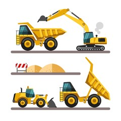 Construction equipment and machinery.