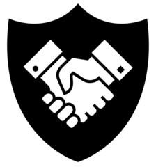 Secure partnership icon